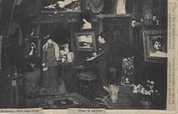 """Peintre Peinture  Chez Le Peintre Nus Modèle Atelier Du Peintre """" Dévêtez Vous Melle Dans Un Instant Je Suis à Vous"""" - Paintings"""