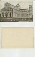 Pisa: La Cattedrale E La Torre. Cartolina Fp Inizio '900 - Pisa