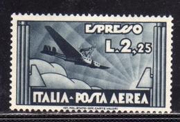 ITALIA REGNO ITALY KINGDOM 1933 POSTA AEREA ESPRESSO AEREO AIR MAIL SPECIAL DELIVERY LIRE 2,25 MNH BEN CENTRATO - 1900-44 Victor Emmanuel III