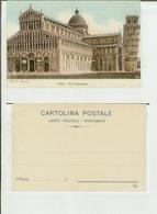 Pisa: La Cattedrale. Cart. Fp Fine '800 - Pisa