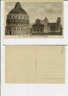 Pisa: Piazza Del Duomo Coi Principali Monumenti. Cartolina Fp Anni '20-'30 - Pisa