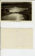 Pisa: Lungarno Regio (notturno). Cartolina Fp Anni '20-'30 - Pisa