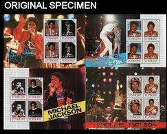 ST.VINCENT 1985 Jackson Music SPECIMEN PERF.se-tenant Sheetlets:4 - St.Vincent (1979-...)