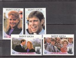 Santa Lucia Nº 821 Al 824 - St.Lucia (1979-...)