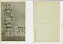 Pisa: Il Campanile. Cartolina Fp Inizio '900 (azzurrata) - Pisa