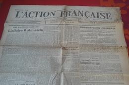 WW1 L'Action Française 29 Août 1916 Léon Daudet Charles Maurras Organe Du Nationalisme Intégral Affaire Rubinstein - Newspapers