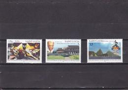 Santa Lucia Nº 1094 Al 1096 - St.Lucia (1979-...)