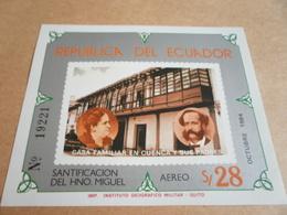 Miniature Sheets Ecuador Family Home Of Brother Miguel 1984 - Ecuador