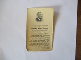 BUSIGNY MONSIEUR ALBERT MACHU EPOUX DE CELINE LEFEVRE PIEUSEMENT DECEDE LE 3 NOVEMBRE 1951 DANS SA 76e ANNEE - Devotion Images