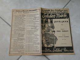 Java Java (Java) (Musique Jacquet Cahan) - Partition Salabert Accordéon (orchestre) 1937 - Partitions Musicales Anciennes
