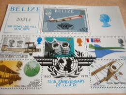 Miniature Sheet Belize Sir Rowland Hill 75th Anniversary I.C.A.O. 1978 - Belize (1973-...)