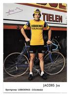 CARTE CYCLISME JOS JACOBS SIGNEE TEAM IJSBOERKE 1976 - Cycling