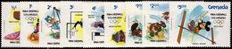 Grenada 1984 Olympics, Disney Characters, Type B Unmounted Mint. - Grenada (1974-...)