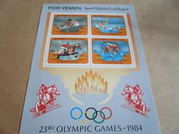 Miniature Sheets Yemen 1984 Olympic Games - Yemen