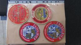 Grosse Collection De Couvercles Et étiquettes (168 Dans Ce Classeur) De Fromages Français. 5/10 Voir Commentaires !!! - Fromage