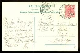 BRIEFKAART Uit 1908 * GELOPEN Van HOUTHEM - St. GERLACH Naar BELGIE  (11.558d) - Periode 1891-1948 (Wilhelmina)