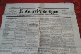 Journal Le Courrier De Lyon 10 Août 1870 Nouvelles Militaires De La Guerre Combat De Forbach - Newspapers