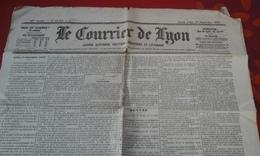 Journal Le Courrier De Lyon 18 Septembre 1871 - Newspapers