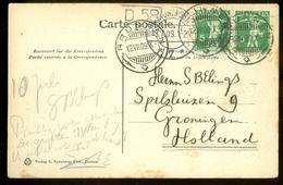 POSTKAART Uit 1909 * GELOPEN Van BRUNNEN Naar GRONINGEN  (11.558i) - Zwitserland