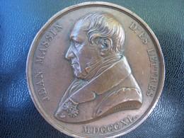 Ancienne Médaille Bronze JEAN MASSIN. Prix Du Concours Général Du Collége Royal De Charlemagne Attribuée Perrot 1846 - France