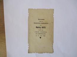 LANDRECIES MAURICE GOTTE SOUVENIR DE MA PREMIERE COMMUNION  FAITE EN L'EGLISE PAROISSIALE LE 9 JUIN 1935 - Devotion Images