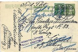 "8 - 17 - Entier Postal Envoyé En Belgique - Cachetcensure ""Komdtr-Lüttich Nicht Ermittelt"" 1914 - Stamped Stationery"