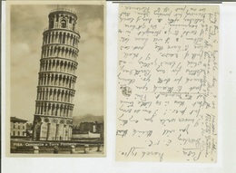 Pisa: Campanile O Torre Pendente. Cartolina Fp Anni '20-'30 - Pisa