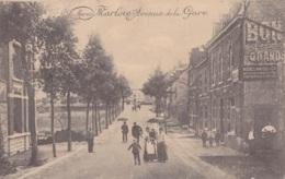 Marloie Avenue De La Gare Circulée En 1916 Voir Verso Cachet Bahnhof Marloie - Marche-en-Famenne