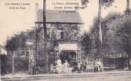 La Panne Chez Moeder Lambic Arrêt Du Tram Circulée Cachet Militaire Voir Verso - De Panne