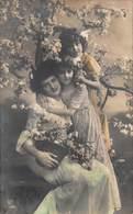 BEAUTIFUL YOUNG GIRLS & MOTHER~FLOWERS & BLOOMING TREE-BELGIAN PHOTO POSTCARD 40750 - Vereinigte Staaten