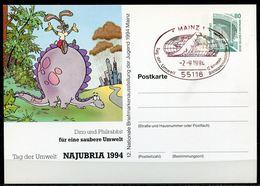 """Germany1994 Privat Ganzsache Tag Der Umwelt Mi.Nr. PP??? Mit SST""""Mainz-Tag Der Umwelt,12. Nation. Briefmarken.""""1 GS Used - Umweltschutz Und Klima"""
