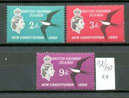 BR.SALOMONINSELN - 098/100  Neue Verfassung   Kpl.Ausg.postfr.  MNH - British Solomon Islands (...-1978)