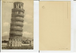 Pisa: Il Campanile. Cartolina Fp Inizio '900 - Pisa