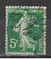 (1F 717) FRANCE // YVERT 137 SEMEUSE  // PERFIN / PERFORE EP // 1907-20 - Francia