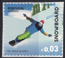 Portugal 2016 Non Oblitéré Used Sur Fragment Sports Extrêmes Snowboard - 1910-... République
