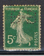 (1F 721) FRANCE // YVERT 137 SEMEUSE  // PERFIN / PERFORE BB // 1907-20 - Francia