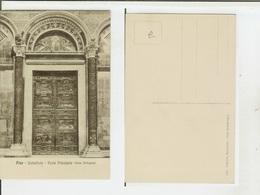 Pisa: Cattedrale - Porta Principale (Gian Bologna). Cartolina Fp Inizio '900 - Pisa