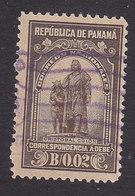 Panama, Scott #J2. Used, Statue Of Columbus, Issued 1915 - Panama