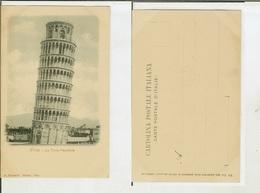 Pisa: La Torre Pendente. Cartolina Fine '800 - Pisa