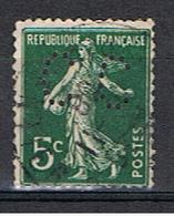 (1F 726) FRANCE // YVERT 137 SEMEUSE  // PERFIN / PERFORE CC // 1907-20 - Francia