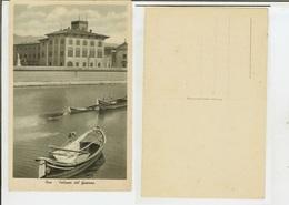 Pisa: Palazzo Del Governo. Cartolina Fp Anni '20-'30 (animata, Barche, Pescatori In Primo Piano) - Pisa