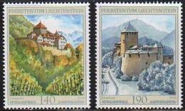 Ref. LI-V2010-5 LIECHTENSTEIN 2010 CASTLES, FORTIFICATIONS, VADUZ CASTLE, MINT MNH 2V - Liechtenstein