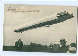 XX004770/  Metz Lothringen  Luftschiff Zeppelin über Freskary 1909 AK  - Airships