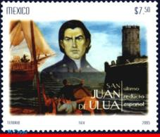 Ref. MX-2486 MEXICO 2005 SHIPS, BOATS, SAN JUAN DE ULUA, LAST, SPANISH REDOUBT, HISTORY, MNH 1V Sc# 2486 - Bateaux