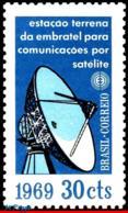 Ref. BR-1114 BRAZIL 1969 TELECOMMUNICATION, EARTHLY STATION OF, EMBRATEL, RADAR ANTENNA, MI# 1203, MNH 1V Sc# 1114 - Ungebraucht