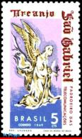 Ref. BR-1116 BRAZIL 1969 ANGELS, ST. GABRIEL, PATRON OF, TELECOMMUNICATIONS, MI# 1205, MNH 1V Sc# 1116 - Cristianesimo