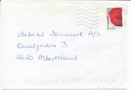 Mi 1167 Solo Commercial Cover / Danish Design Margrethe Bowl - 31 January 1999 Vestjyllands Postcenter - Dinamarca