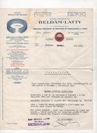 CERTIFICAT DE TRAVAIL ETABLISSEMENTS BELDAM-LATTY PUTEAUX / PARIS - GARNITURES DE PRESSE-ETOUPES & JOINTS - 1951 - Artesanos