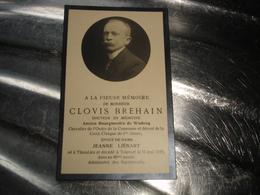 ANCIEN FAIRE PART MORT - WODECQ ( ELLEZELLES ATH FLOBECQ ) - BOURGMESTRE CLOVIS BREHAIN 1934 ( THIEULAIN TOURNAI ) - Décès