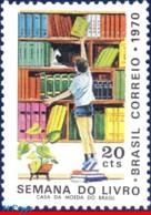Ref. BR-1174 BRAZIL 1970 - BOOK WEEK, BOY IN, LIBRARY, MI# 1268, MNH, EDUCATION 1V Sc# 1174 - Brasilien
